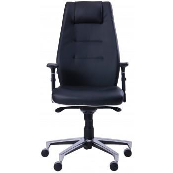Кресло Элеганс НВ Неаполь-20 (черный), кант Неаполь-50 (белый)