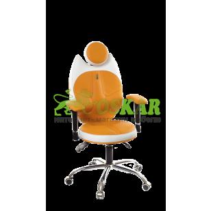 Кресло TRIO(оранжево-белый)