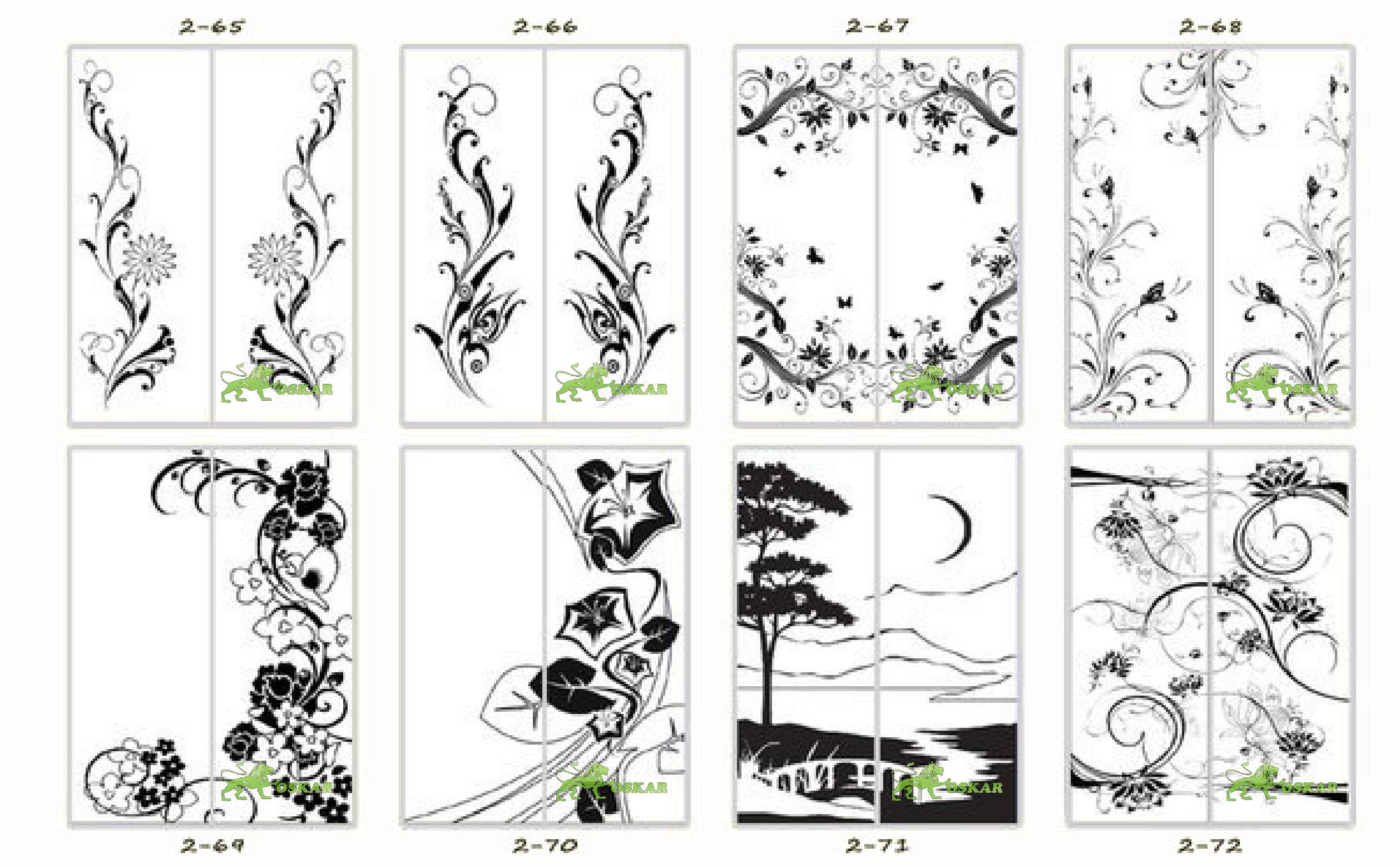 Схема рисунков на шкафы